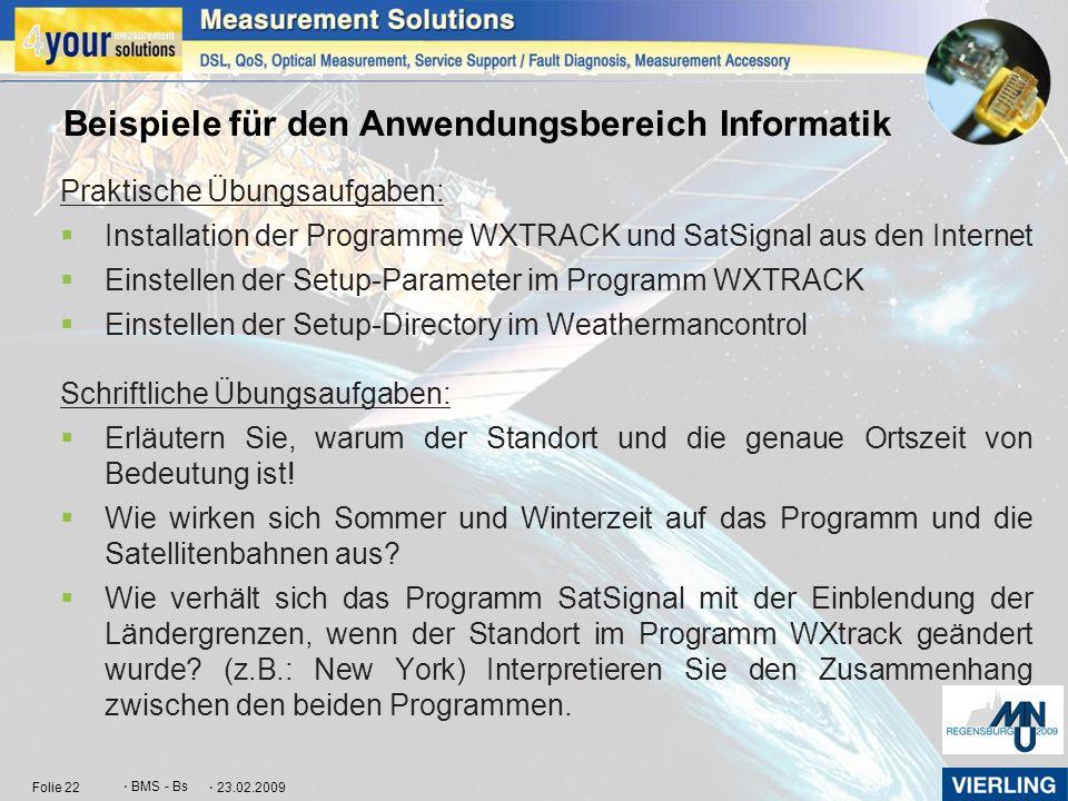 Beispiele für den Anwendungsbereich Informatik