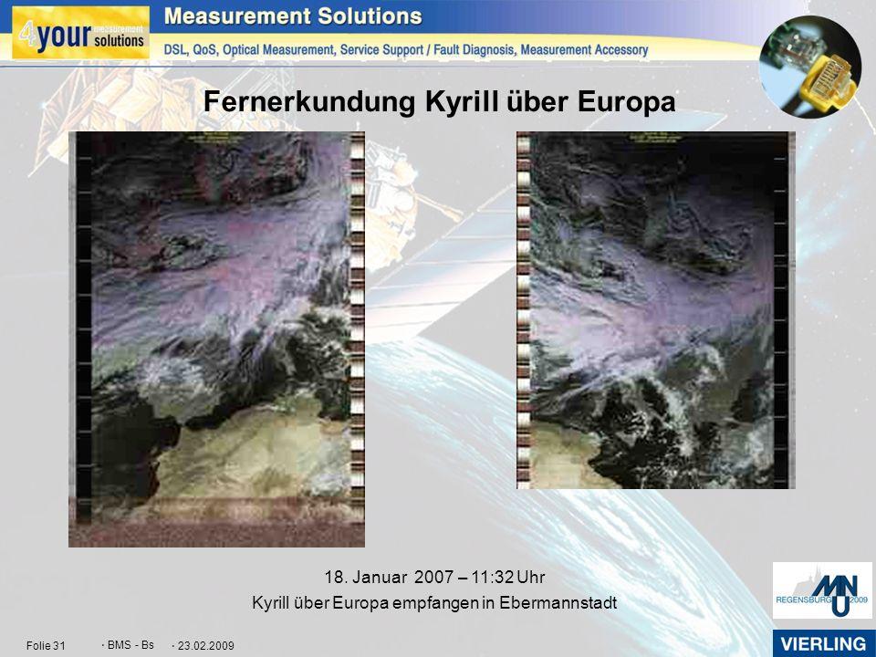 Fernerkundung Kyrill über Europa