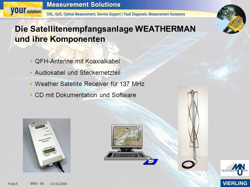 Die Satellitenempfangsanlage WEATHERMAN und ihre Komponenten