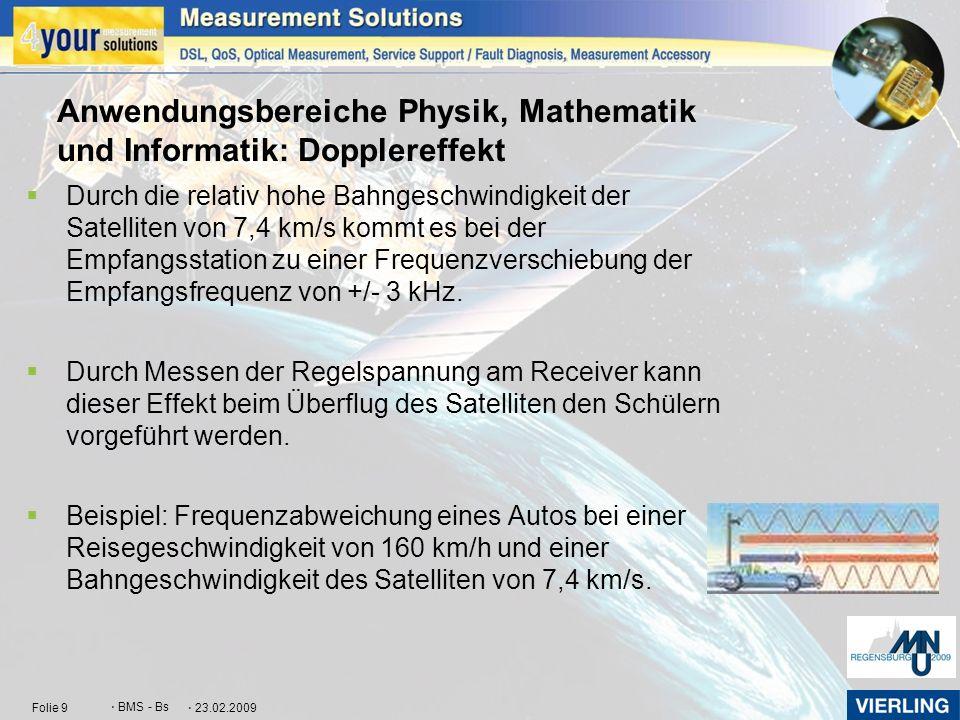 Anwendungsbereiche Physik, Mathematik und Informatik: Dopplereffekt