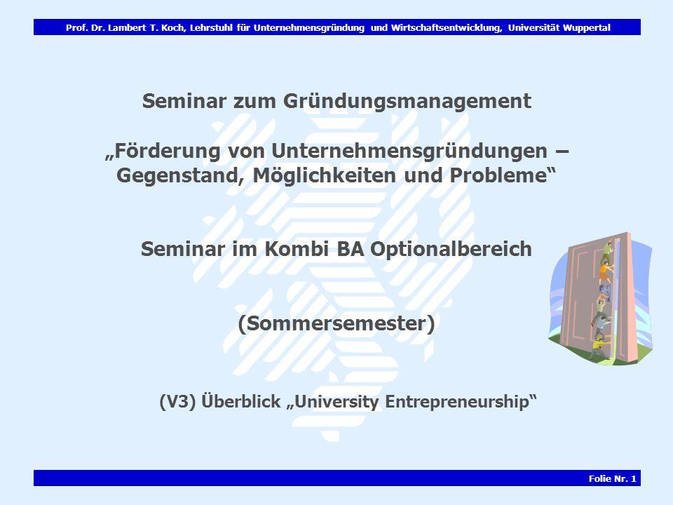 "(V3) Überblick ""University Entrepreneurship"