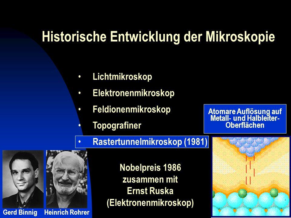Atomare Auflösung auf Metall- und Halbleiter-Oberflächen