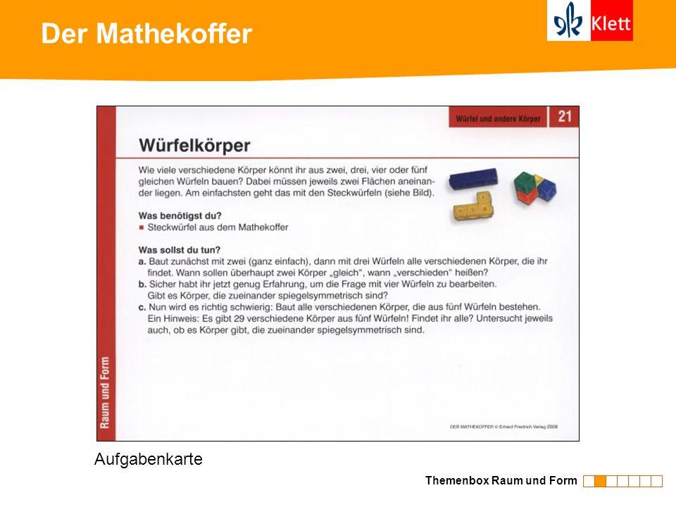 Der Mathekoffer Aufgabenkarte Themenbox Raum und Form