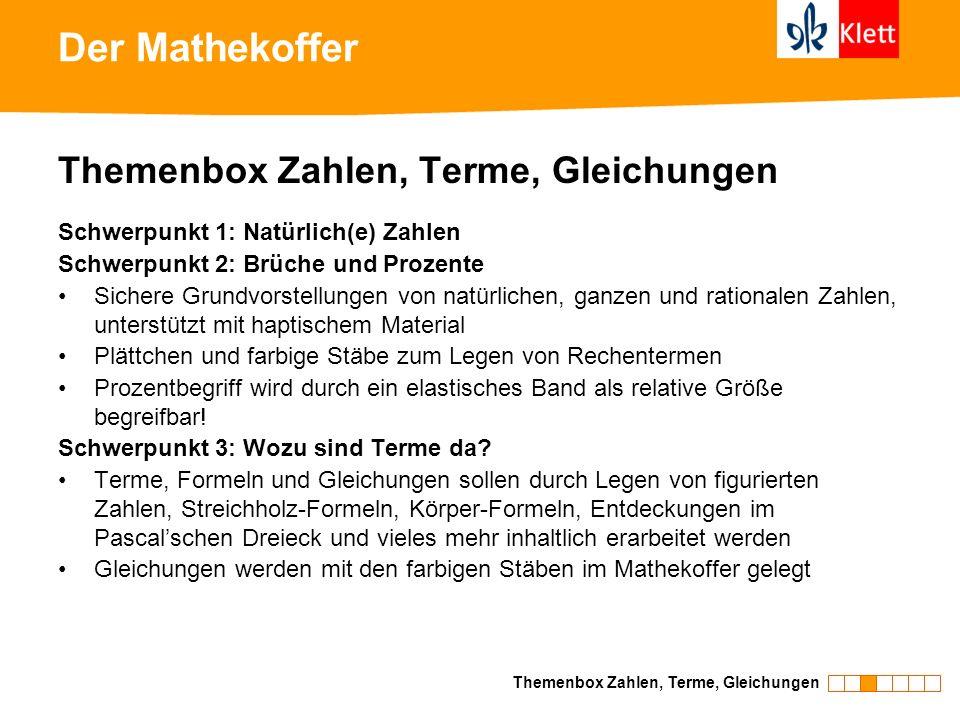 Der Mathekoffer Themenbox Zahlen, Terme, Gleichungen