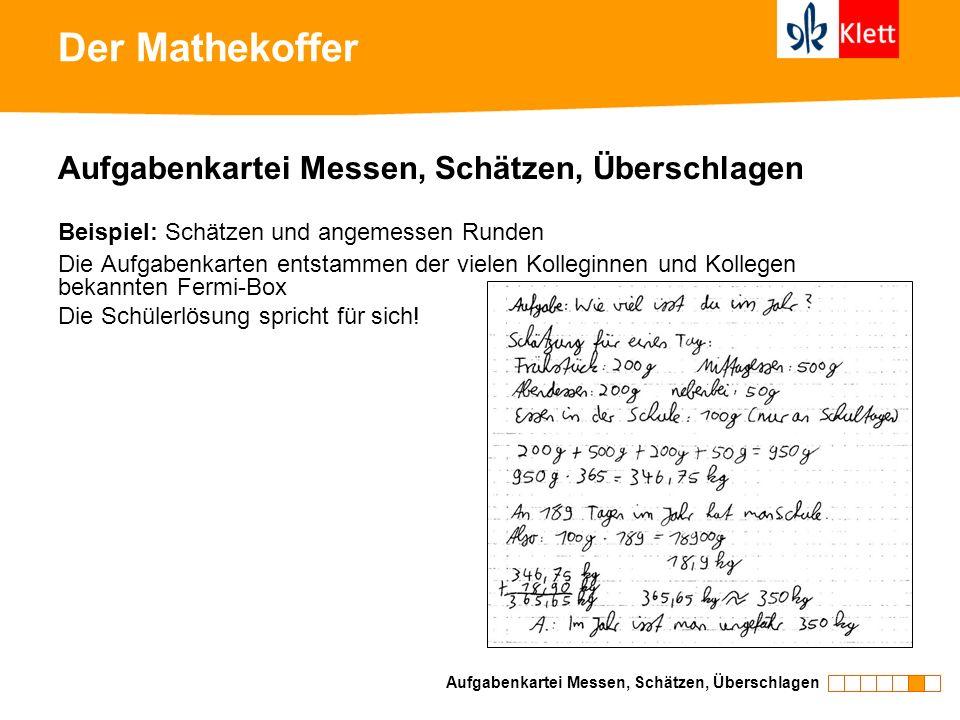 Der Mathekoffer Aufgabenkartei Messen, Schätzen, Überschlagen