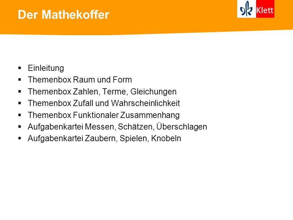 Der Mathekoffer Einleitung Themenbox Raum und Form