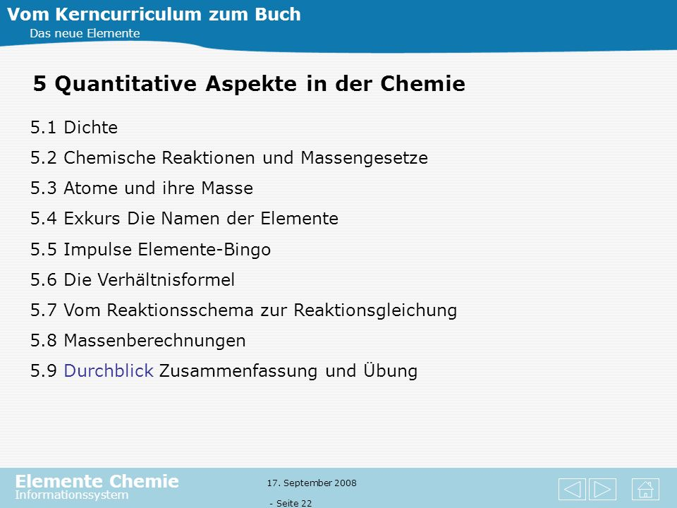 5 Quantitative Aspekte in der Chemie