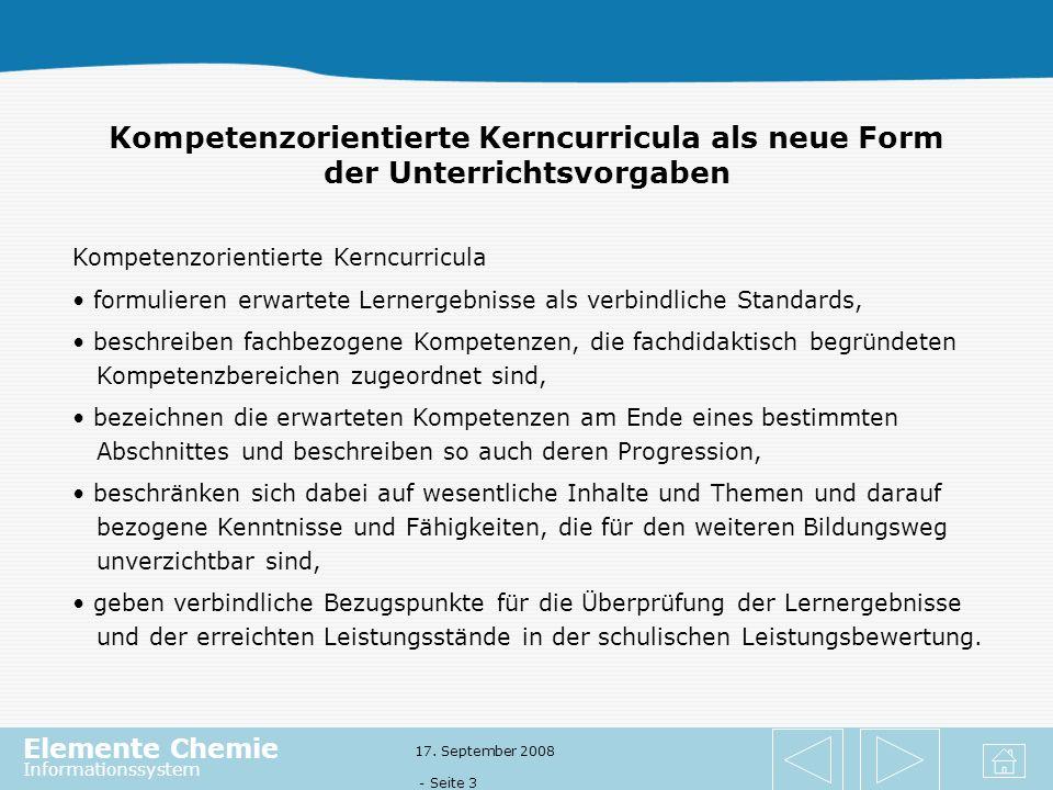 Kompetenzorientierte Kerncurricula als neue Form der Unterrichtsvorgaben