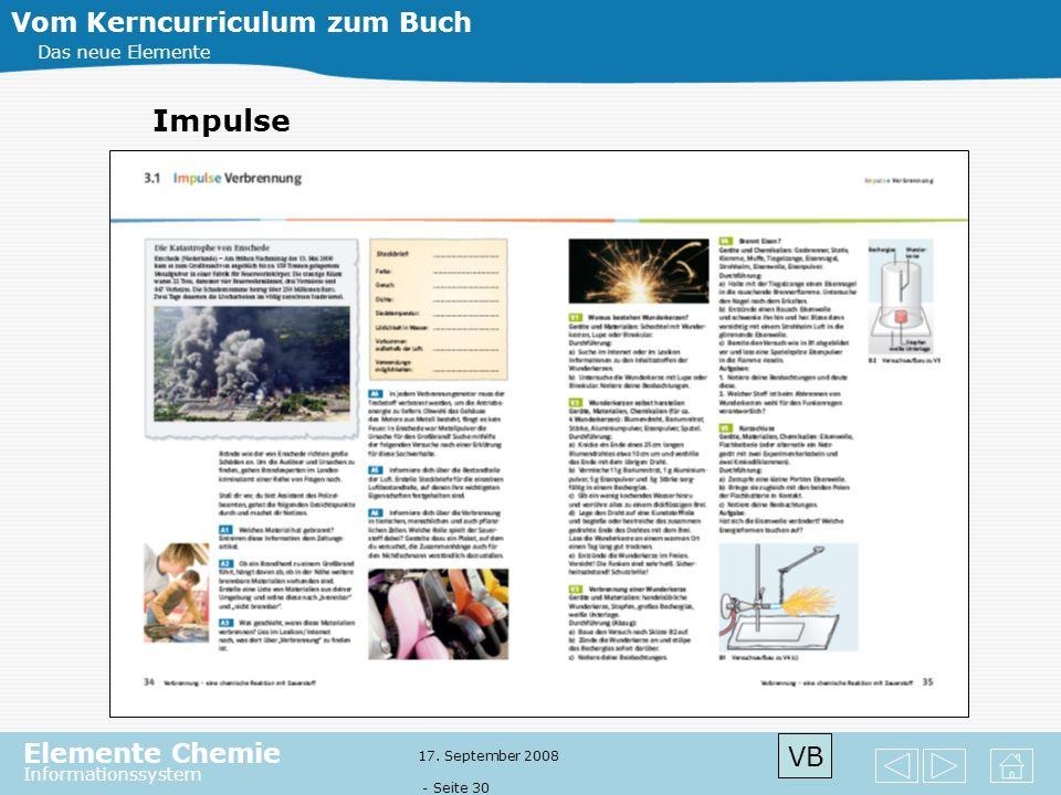 Impulse Vom Kerncurriculum zum Buch VB Das neue Elemente