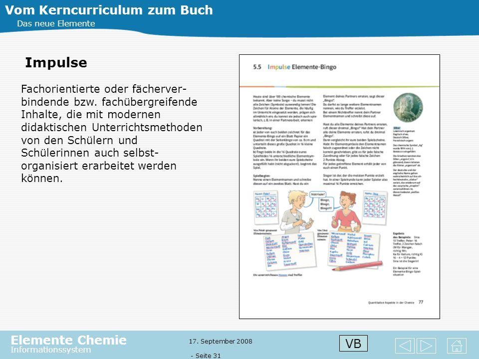 Impulse Vom Kerncurriculum zum Buch VB
