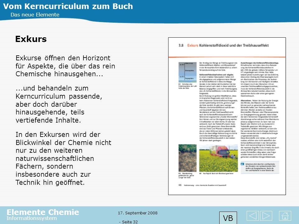 Exkurs Vom Kerncurriculum zum Buch VB
