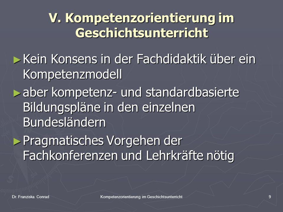 V. Kompetenzorientierung im Geschichtsunterricht