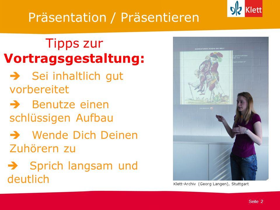 Präsentation / Präsentieren