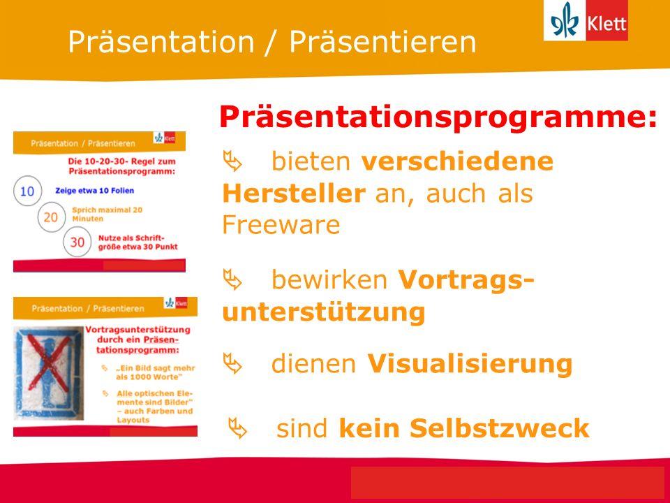 Präsentationsprogramme: