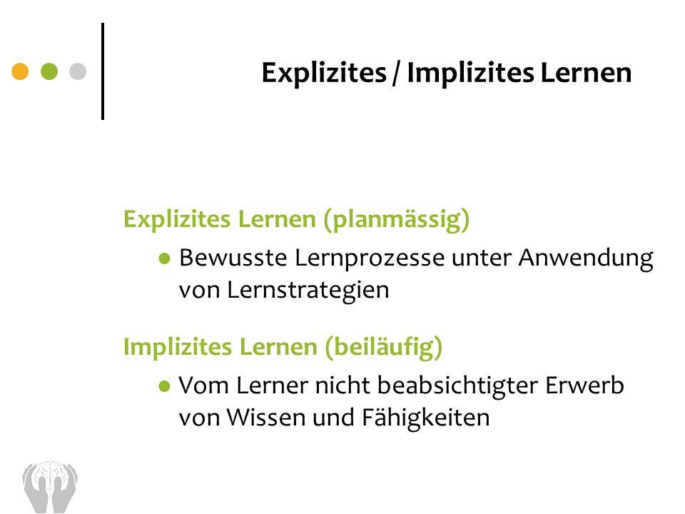 Explizites / Implizites Lernen
