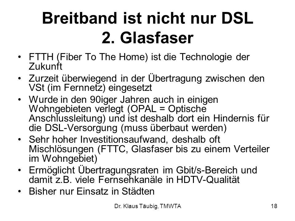 Breitband ist nicht nur DSL 2. Glasfaser