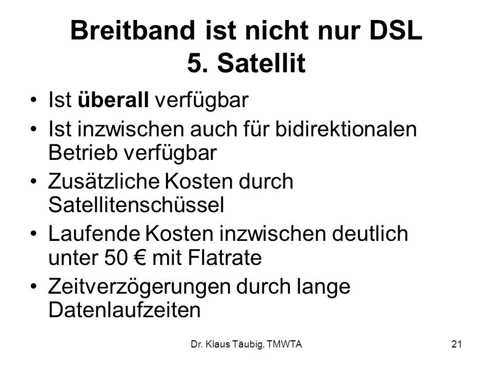 Breitband ist nicht nur DSL 5. Satellit