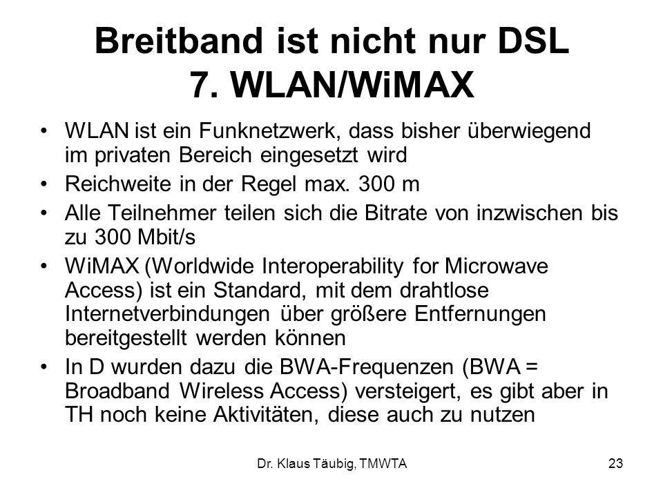 Breitband ist nicht nur DSL 7. WLAN/WiMAX