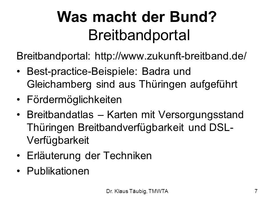 Was macht der Bund Breitbandportal