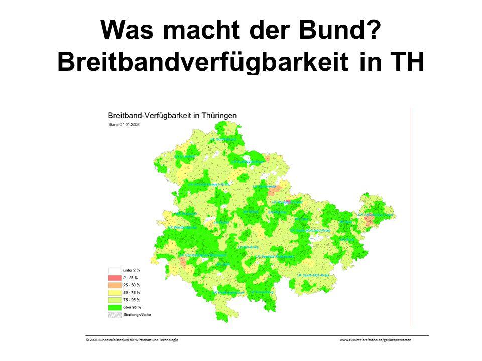 Was macht der Bund Breitbandverfügbarkeit in TH
