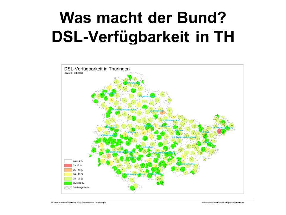 Was macht der Bund DSL-Verfügbarkeit in TH