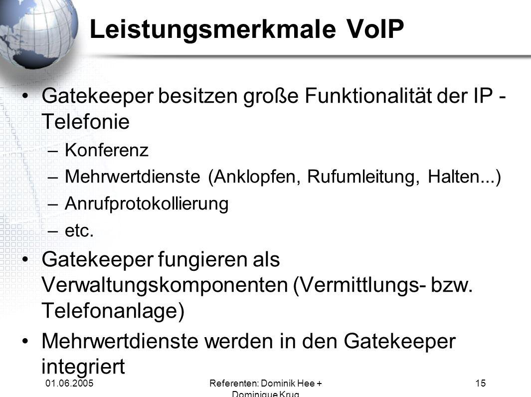 Leistungsmerkmale VoIP