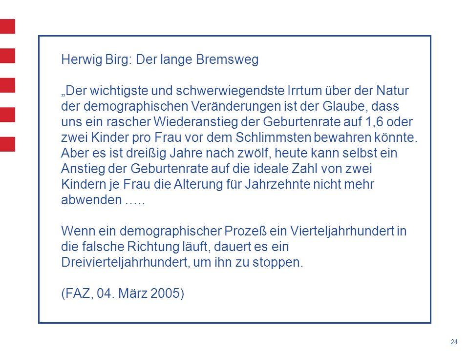 Herwig Birg: Der lange Bremsweg