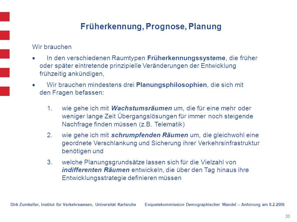 Früherkennung, Prognose, Planung