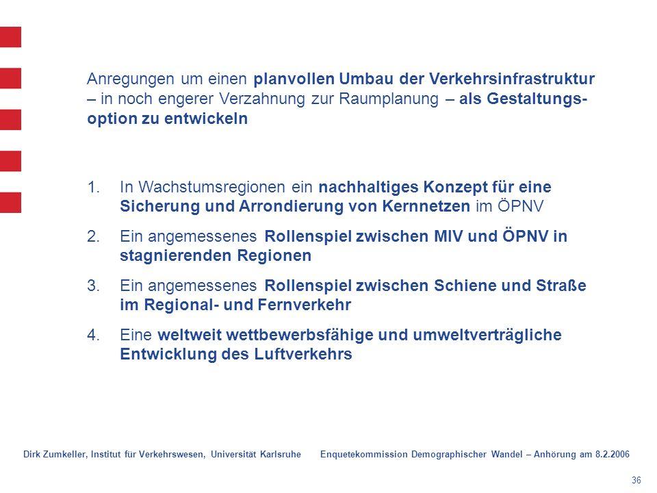 Anregungen um einen planvollen Umbau der Verkehrsinfrastruktur – in noch engerer Verzahnung zur Raumplanung – als Gestaltungs-option zu entwickeln