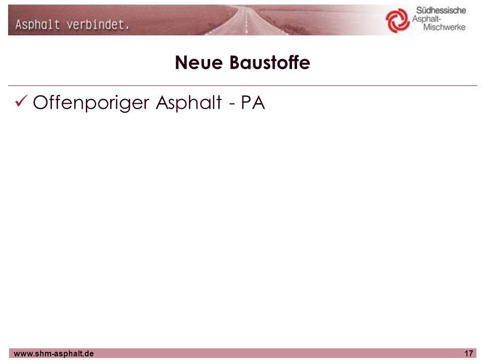 Offenporiger Asphalt - PA
