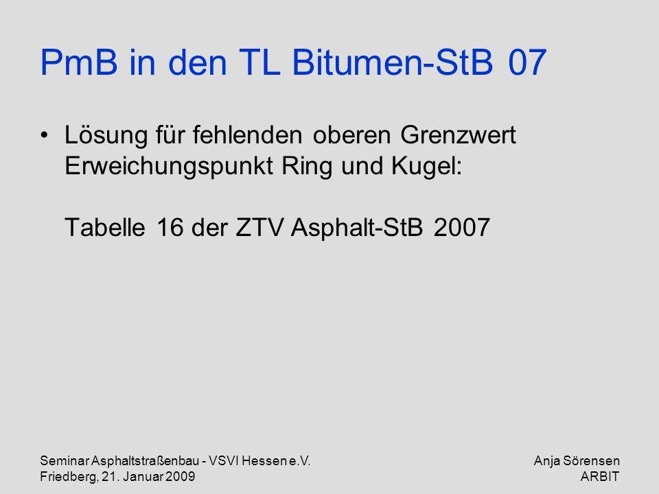 PmB in den TL Bitumen-StB 07
