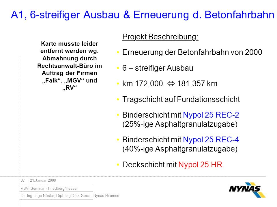 A1, 6-streifiger Ausbau & Erneuerung d. Betonfahrbahn
