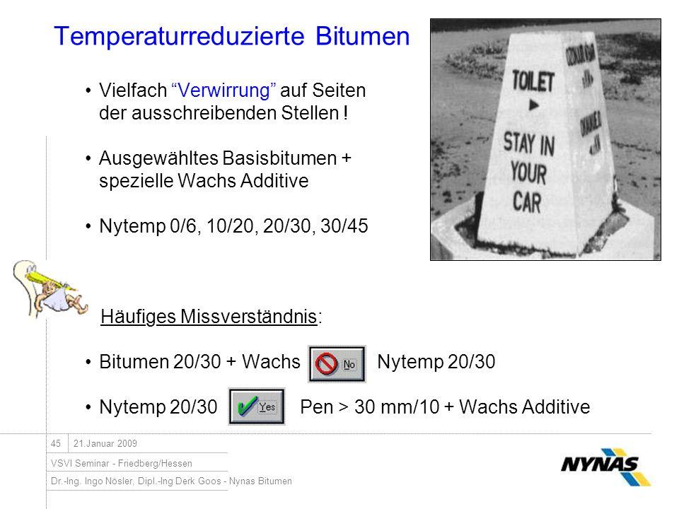 Temperaturreduzierte Bitumen