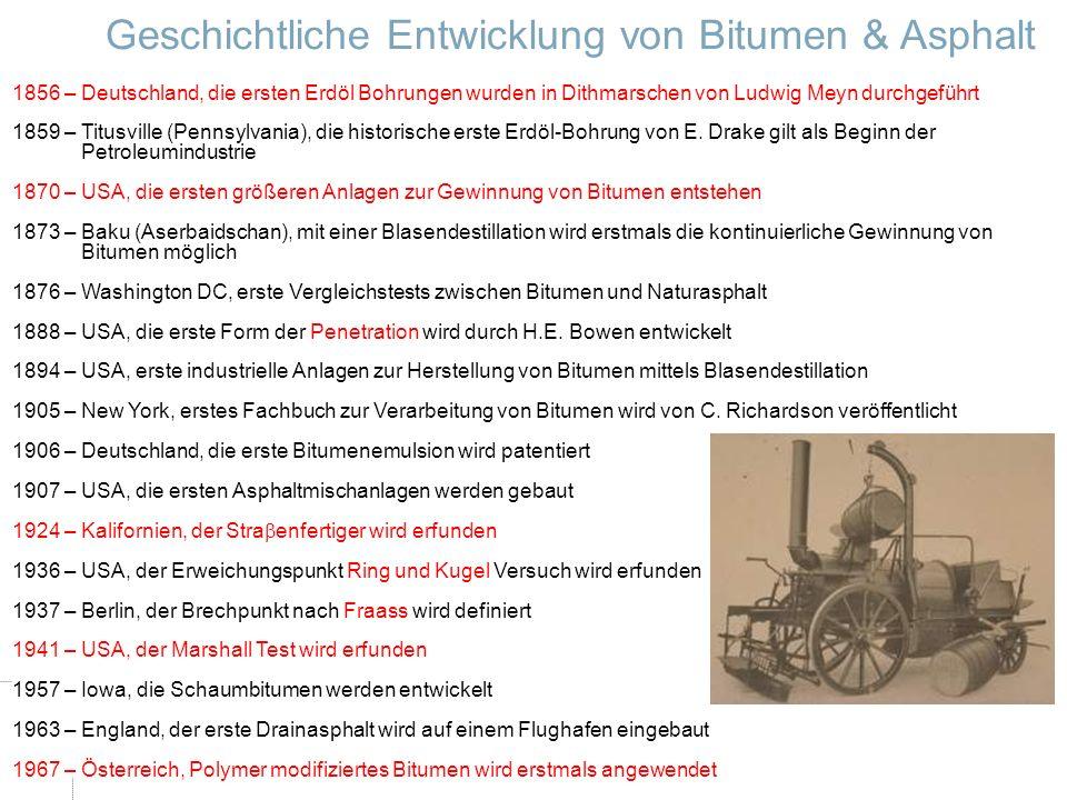 Geschichtliche Entwicklung von Bitumen & Asphalt