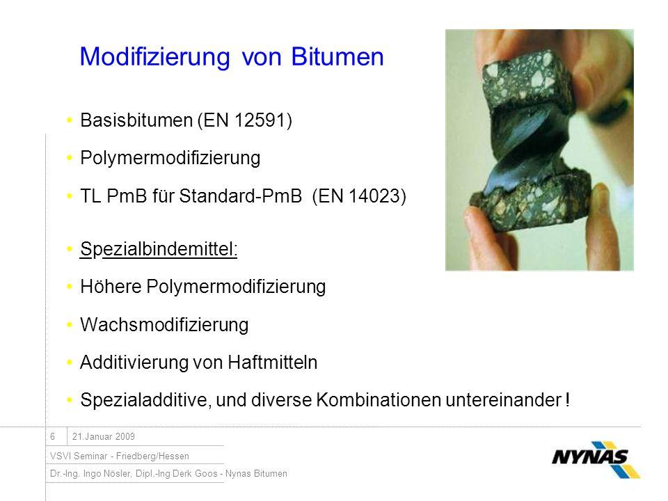 Modifizierung von Bitumen