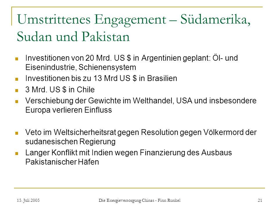 Umstrittenes Engagement – Südamerika, Sudan und Pakistan
