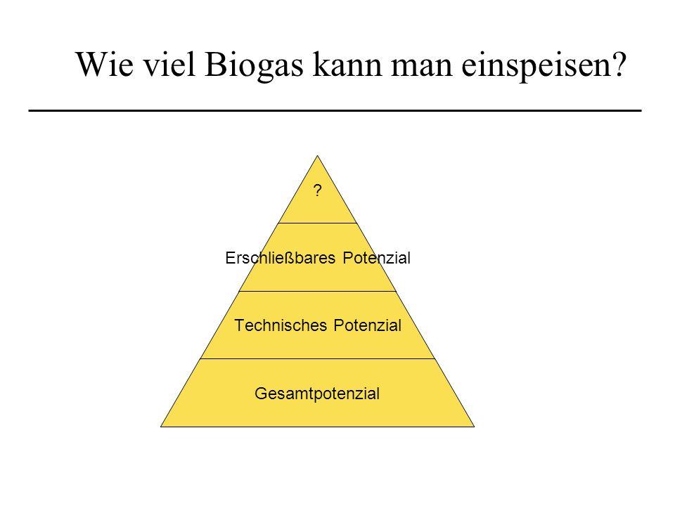 Wie viel Biogas kann man einspeisen