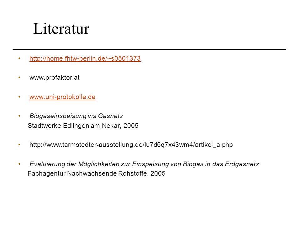Literatur http://home.fhtw-berlin.de/~s0501373 www.profaktor.at