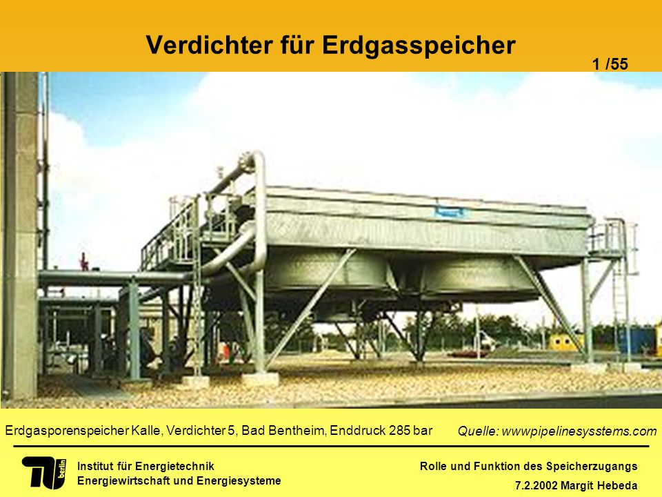 Verdichter für Erdgasspeicher