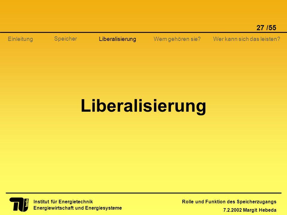 Liberalisierung Liberalisierung