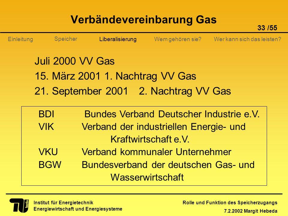 Verbändevereinbarung Gas