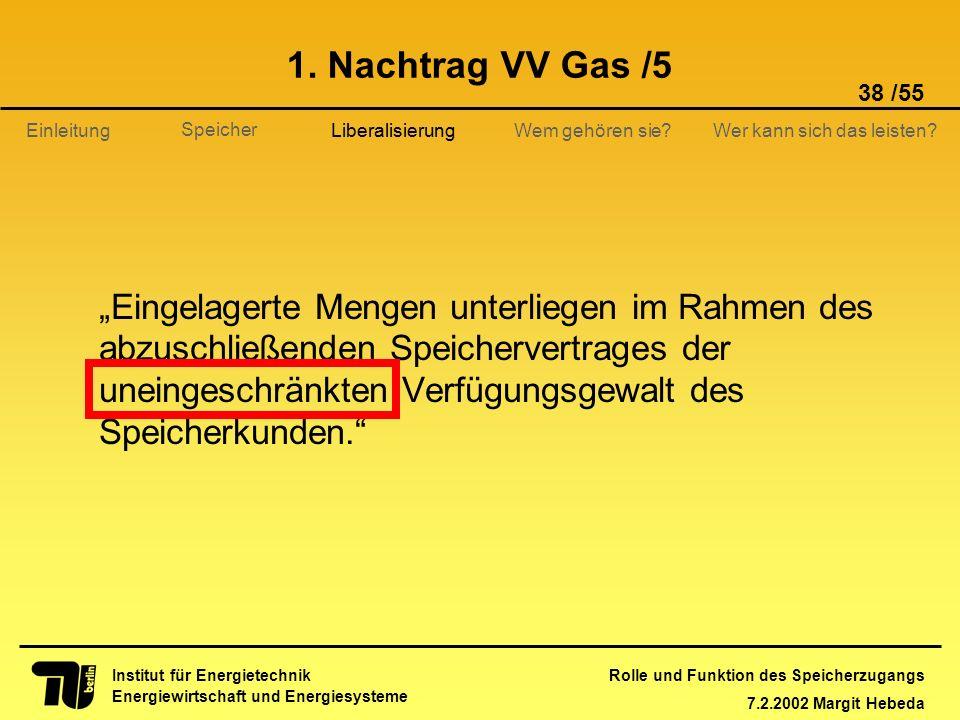 1. Nachtrag VV Gas /5 Liberalisierung.