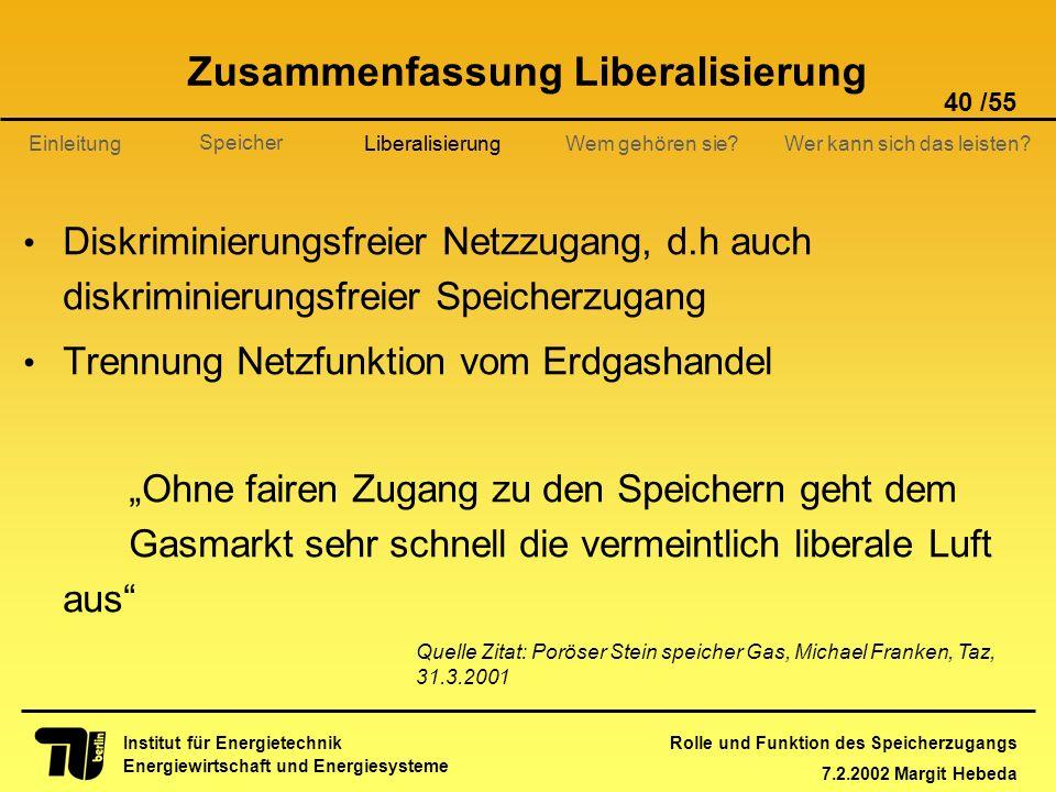 Zusammenfassung Liberalisierung