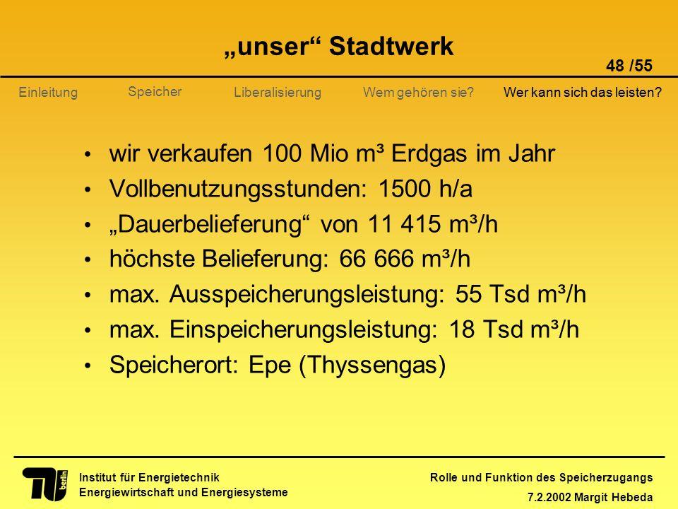 """""""unser Stadtwerk wir verkaufen 100 Mio m³ Erdgas im Jahr"""