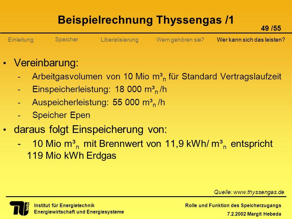 Beispielrechnung Thyssengas /1
