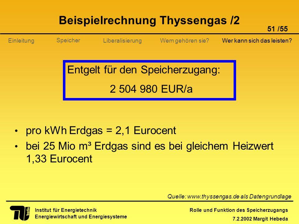 Beispielrechnung Thyssengas /2