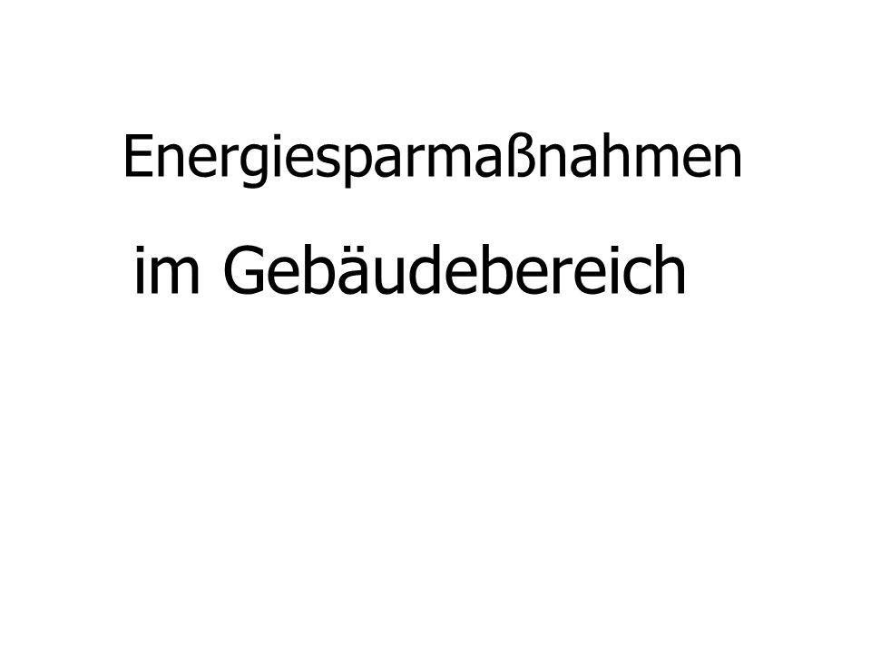 Energiesparmaßnahmen
