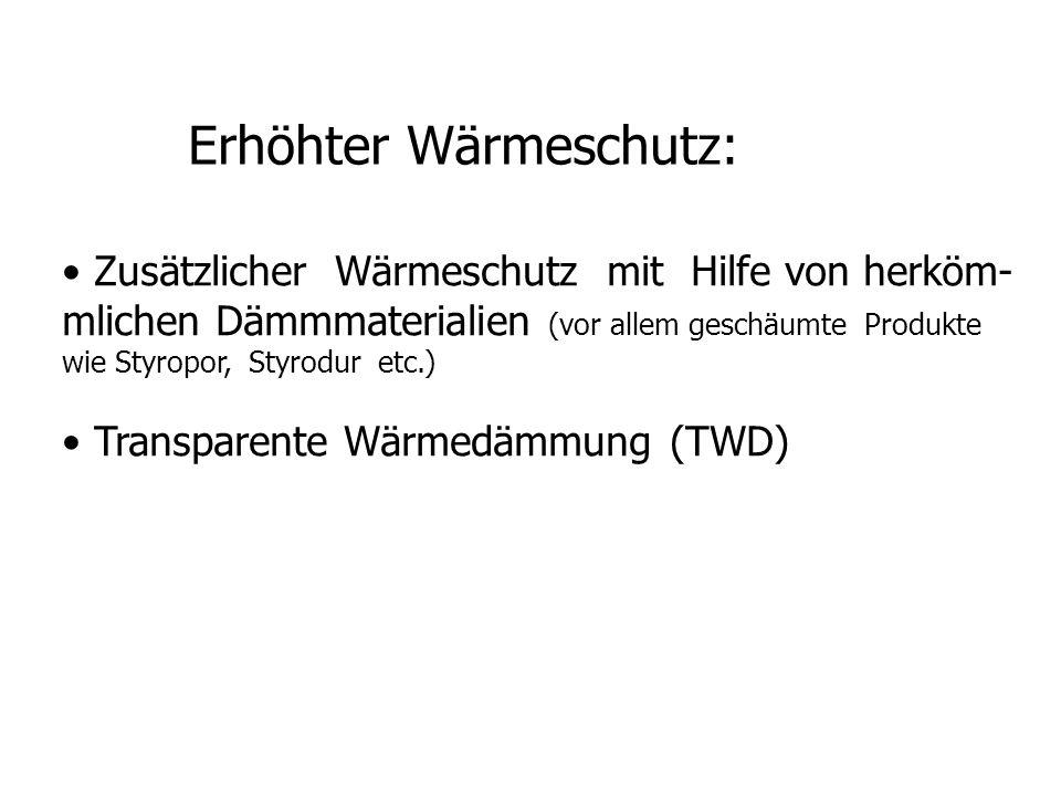 Erhöhter Wärmeschutz: