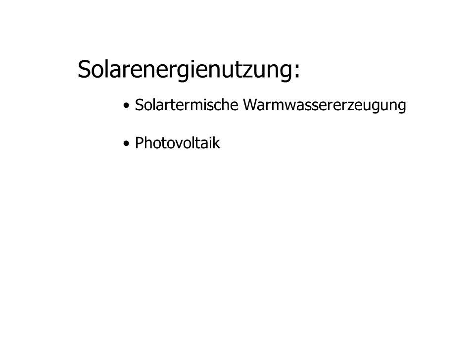 Solarenergienutzung: