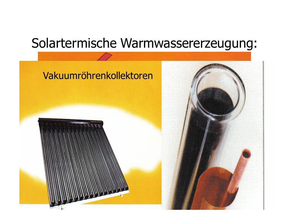 Solartermische Warmwassererzeugung: